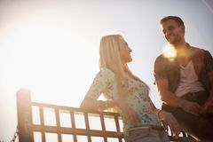 Summertime couple Royalty Free Stock Photo