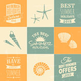 Summertime Design Collection Stock Photography