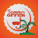 Summertime design Stock Photography