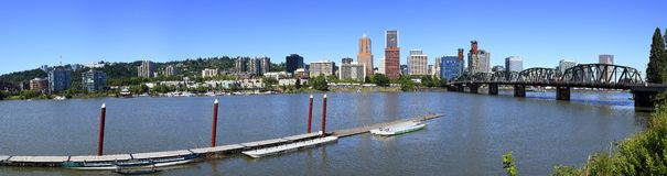 Summertime dragon boat races, Portland OR. Stock Photos