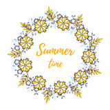 Summertime Floral Wreath Stock Image
