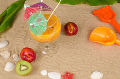 Summertime fruit smoothie Stock Image