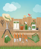 Summertime Gardening At Home Stock Photography