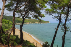 Summertime.Gargano coast: Campi Bay beach,Vieste-Apulia ITALY- Stock Photography