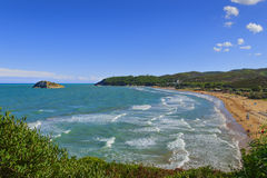 Summertime.Gargano coast: Portonuovo beach,Vieste-(Apulia) ITALY- Royalty Free Stock Photos