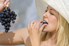 Summertime Grapes Stock Photos