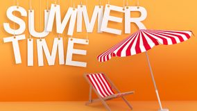 Summertime hanging Letters Stock Image