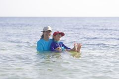 Summertime, Happy Mother and Son Having Fun Stock Photos