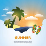 Summertime Holiday Background Royalty Free Stock Image
