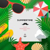 Summertime Holiday and Summer Camp poster, vector illustration. Summertime Holiday and Summer Camp poster, vector illustration royalty free illustration
