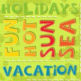 Summertime holidays vacation fun hot sun sea color Stock Photos
