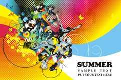 Summertime illustration Royalty Free Stock Photos