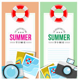 Summertime invite card concept Stock Photography
