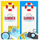 Summertime invite card concept Royalty Free Stock Image
