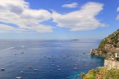 Summertime,Italy seascape: Amalfi Coast panorama (Costiera Amalfitana,Campania).Positano seaside. Stock Images