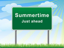 Summertime just ahead billboard. Royalty Free Stock Photos