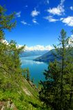 Summertime at Kanas Lake Stock Photography