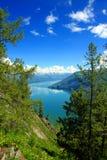 Summertime at Kanas Lake. Summertime scenery of Kanas Lake, Xinjiang Province, China Stock Photography