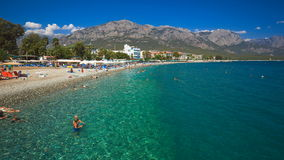 Summertime in Kemer stock footage