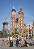 Summertime in Krakow, Poland Royalty Free Stock Photography