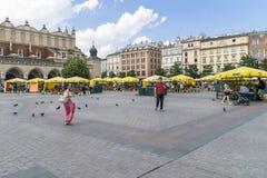 Summertime in Krakow, Poland Stock Image