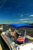 Summertime on the Lake. Beautiful Summer day on an American lake Stock Photography