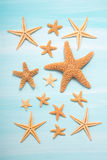 Summertime: Maritime decoration with starfishes. Stock Photo