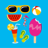 Summertime objects Royalty Free Stock Images