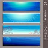 Summertime ocean banners Stock Photo