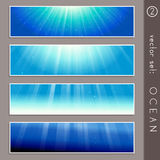 Summertime ocean banners Stock Images