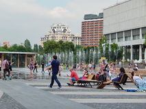 Summertime in the park Muzeon in Moscow. Royalty Free Stock Photo
