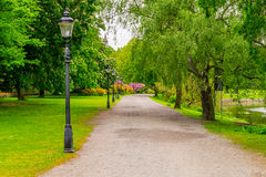 Summertime at a park in Stockholm. (Horizontal view Stock Photo
