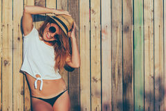 Summertime portrait of young woman Royalty Free Stock Photography