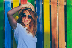 Summertime portrait of young woman Stock Images