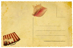 Summertime postcard Royalty Free Stock Images