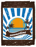 Summertime poster Stock Photo