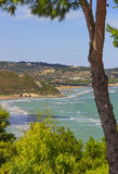 Summertime relax.The most beautiful coasts of Italy: bay of Vieste.-Apulia, Gargano - Royalty Free Stock Photography