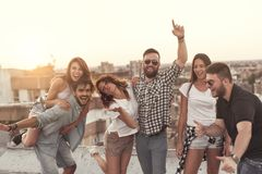 Summertime rooftop party Royalty Free Stock Photo