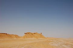 Summertime Sahara desert in Tunisia Stock Photography