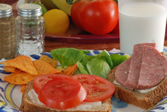 Summertime Sandwiches Royalty Free Stock Photos