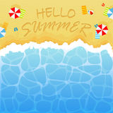 Summertime on sandy beach royalty free illustration