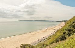 Summertime scene on Bournemouth beach. A summertime scene along Bournemouth beach in Dorset, United Kingdom Stock Images