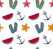 Summertime seamless pattern Royalty Free Stock Photo