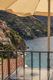 Summertime seascape. Amalfi coast: Positano beach.Italy (Campania). Royalty Free Stock Images