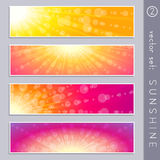 Summertime sky banners Royalty Free Stock Photography