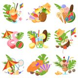 Summertime Spirit Vector Images Stock Photography