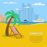 Summertime - square banner Stock Image