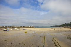 Summertime at St Ives beach, Cornwall, England.  Royalty Free Stock Photography