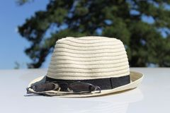 Summertime straw hat Stock Photography