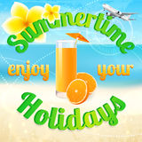 Summertime (summer vacation). Beach holidays Royalty Free Stock Photos